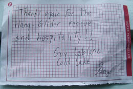 Guy thank you note.